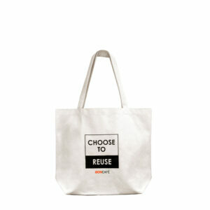 "CLOTH BAG ""BON CHOOSE TO REUSE"", CREAM"