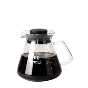 TIAMO GLASS COFFEE SERVER 650CC (BLACK)