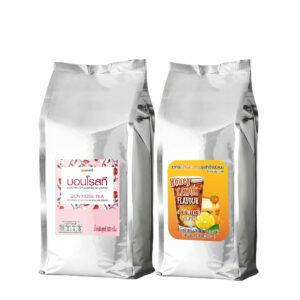 เซ็ตชื่นใจ : บอนโรสที (ชากุหลาบ) + ชาน้ำผึ้งมะนาว บอนที (ถุงฟอยล์)