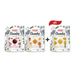 PPROMOTION SET : ANDROS FRUIT CHUNKY (RASPBERY + PEACH) FREE 1 BAG OF ANDROS FRUIT CHUNKY (MANGO)