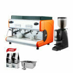 Easy Open a Coffee Shop Promotion LA SAN MARCO 85 ROMA + LA SAN MARCO GRINDER MODEL 92T (MANUAL TIMER)