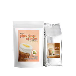 Promotion : New! Set Salted Cheese Powder with Taiwan Milk Tea