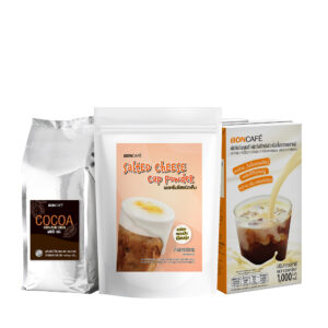 Promotion : New! Set Salted Cheese Powder with 100% Pure Cocoa & Boncafe Milky Sauce