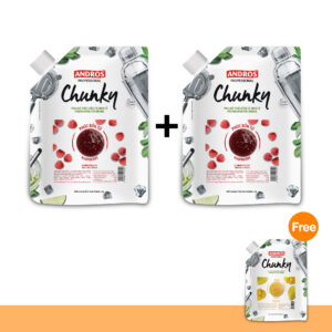 PROMOTION :  ANDROS FRUIT CHUNKY, RASPBERRY
