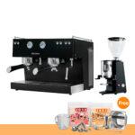โปรโมชั่น : เครื่องทำกาแฟ แอสคาโซ่ ทรีโอ 2 หัวชง, สีดำ + เครื่องบดกาแฟ คาริมาลี่ รุ่น X010