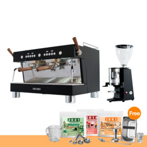 โปรโมชั่น : เครื่องทำกาแฟ แอสคาโซ่ บาริสต้า ที พลัส, 2-หัวชง + เครื่องบดกาแฟ คาริมาลี่ รุ่น X010