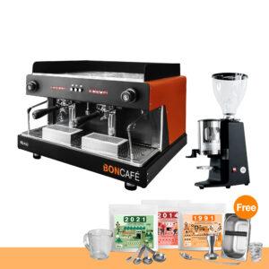 โปรโมชั่น : บอนกาแฟ ปีกาโซ่ 2 หัว + เครื่องบดกาแฟ คาริมาลี่ รุ่น X010